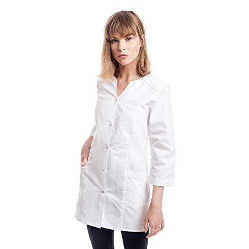 Arztkittel Weiß Damen -7 Weisser Laborkittel Größe (XS -3XL) - Labormantel Perfekt Als Labor, Chemie, Kosmetik, Berufsbekleidung Kittel - Am Besten Für Ärzte, Arzthelferin. Krankenschwester.