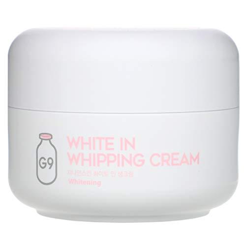 Whitening cream, Aufhellung creme für dunkle Haut, gegen Sommersprossen, Altersflecken, Pigmentflecken. Feuchtigkeitsspendend & Anti-aging für Frauen und Männer. White in Whipping cream by G9Skin.
