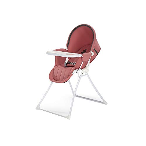 Best Bargain ZXQZ Baby High Chair, Home Baby Dining Chair Foldable Children's Dining Table and Chair...