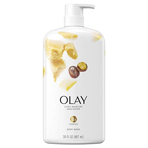 Olay Ultra, Ultra Moisture Shea Butter, Body Wash, 30 Fl Oz (Pack of 4)