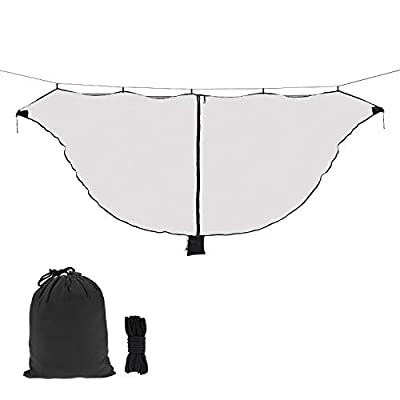 Hammock Net Camping Net Fits for All Camping Hammocks, Polyester Netting for 360 Degree Protection and Double Sided Zipper for Easy Access