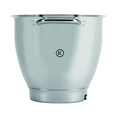 Kenwood KAT811SS Rührschüssel, 6,7 Liter Edelstahl-Schüssel TITANIUM XL SS BOWL, Küchenmaschinen Zubehör
