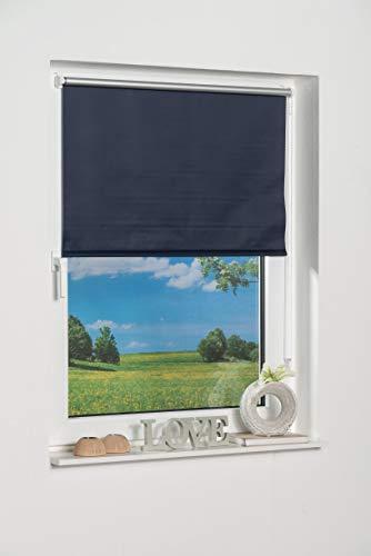 K-home 542424–3Klemmfix Mini Tenda avvolgibile Oscurante, plastica, Tessuto, Blu, 40 x 150 cm