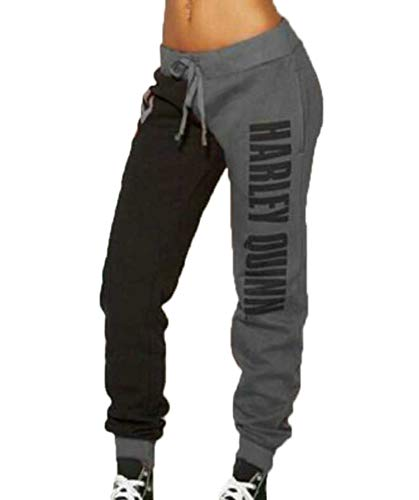 US Flag Vintage Womens Autumn Winter Long Trousers Daily Baggy Sweatpants