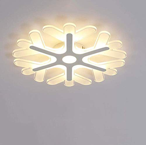 ZHANGL Creative Minimalista Moderna Lámpara de techo para niños con control remoto Diseño de copo de nieve LED Lámpara de techo regulable LED Lámpara de techo decorativa redonda,  42 cm / 34W 3000K-6