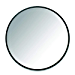 Umbra Hub Wall Mirror With Rubber Frame - 24-Inch Round Wall Mirror for Entryways, Washrooms, Living Rooms and More, Doubles as Modern Wall Art, Black (Renewed)