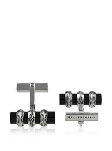 Hugo Boss Baldessarini Manschettenknöpfe Sterling-Silber 925Tausendstel rhodiniert/schwarz