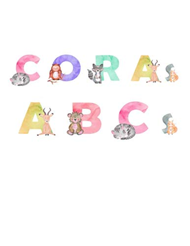 Cora's ABCs: Personalized Animal Alphabet Printing and Coloring Book