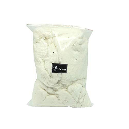Relleno de fibra de algodón orgánico crudo, color natural, respetuoso con el medio ambiente, para muñecas de edredón (1 libra)