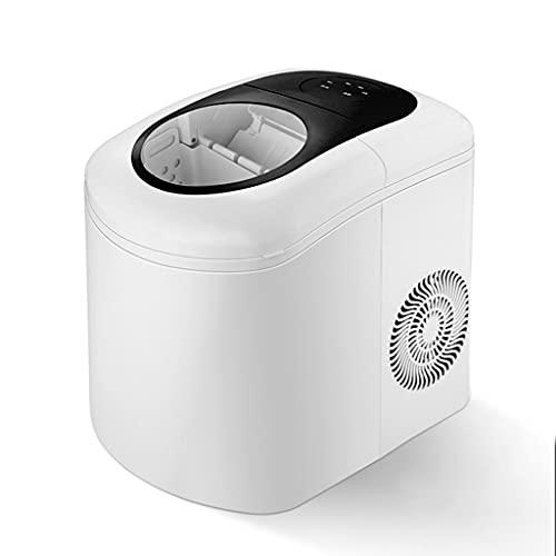 Máquina de Encimera para Fabricar Hielo 9 Cubitos de Hielo de Bala Listos en 6 Minutos, 39,6 Libras de Cubitos de Hielo en 24 Horas, Ajuste Inteligente del Grosor de la Oficina Tanque de Agua 2.2L