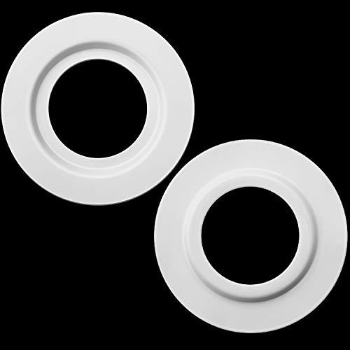 Reduzierring für Metalllampenschirm für ES/ E27 bis BC/ B22 Plattenleuchte Adapterkonverter für Lampenschirmwaschanlage (Weiß, 2 Stück)