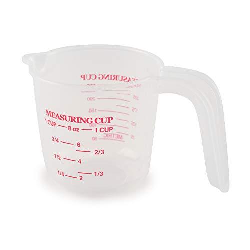 Norpro Transparent Plastic Measuring Cup, 8oz (250ml)