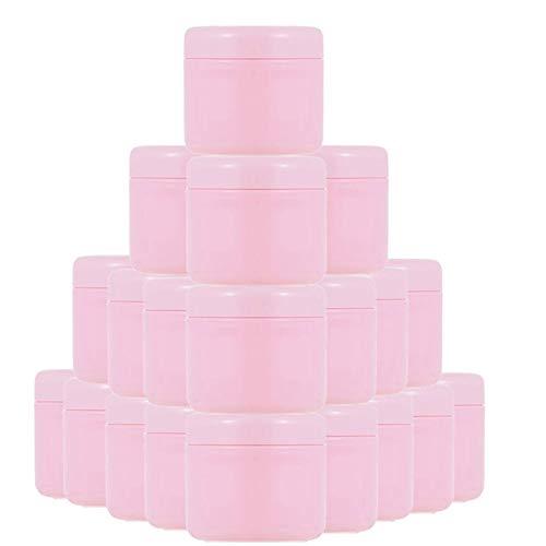FANGLMY Botella contenedor 30 / 60pcs 10g 20 g 30 g 50g 100g Botellas Recargables Pink Plastic Maquillaje vacío Jar Pot Travel Face Cream Lotion Cosmety Contenedor Artículos de Viaje
