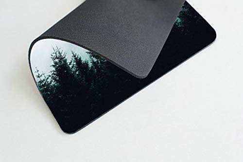Smooffly Gaming Mouse Pad Custom Misty Forest with Mountains Mousepad Non-Slip Rubber Rectangle Mouse Pads for Computers Laptop 9.5 X 7.9 Inch (240mmX200mmX3mm) Photo #3