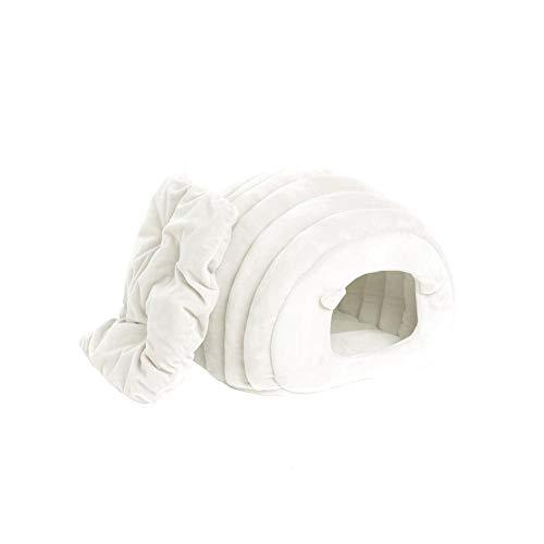 Diafrican Katze Höhle Zelt, Schafe-förmige Nwelpen Zelt Nest Haus, Maschine waschbar alle Jahreszeiten Katzenhaus, Haustier Indoor halbgeschlossen bedeckt Zelt mit abnehmbaren Kissen Pad