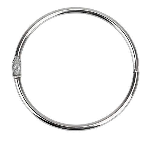 Binder Rings Loose Leaf Book Ring (8 Pack) Large 2.75 Inch Diameter Nickel Plated (Silver )