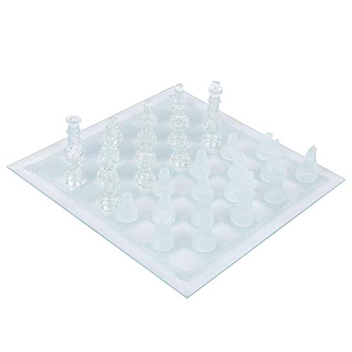Boquite Presente romántico ajedrez Cristal ajedrez, 32 Pieza de ajedrez 25x25 cm ajedrez de Cristal, ajedrez de Cristal Internacional, Tablero de ajedrez Internacional 1, Campamento Escolar para ni