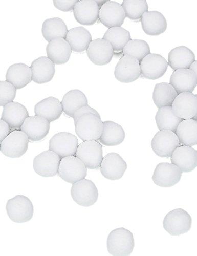 Generique - 50 Mini Pompons Blancs