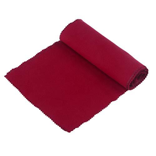 FAVOMOTO Capa Protetora Contra Poeira Do Teclado de Piano Tecido de Cobertura Das Teclas para Piano (Vermelho) 128 * 15Cm