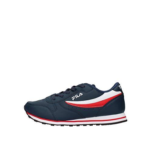 Fila Kinderschuhe Sneaker Orbit Low Kids aus blauem Leder 1010783.29Y