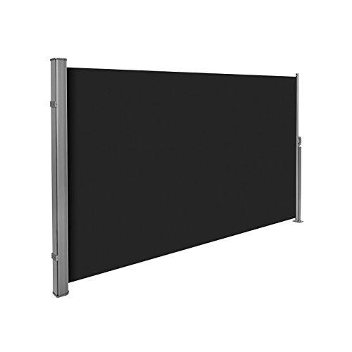 Helloshop26 2208014 Auvent Store Latéral Brise-Vue, Noir, 300 x 25 x 180 cm