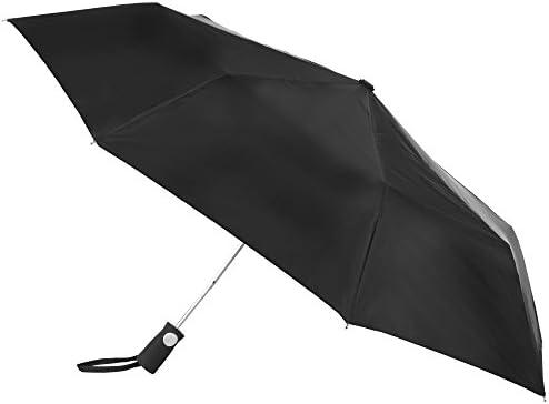 totesport Men's Automatic Compact Umbrella, Black