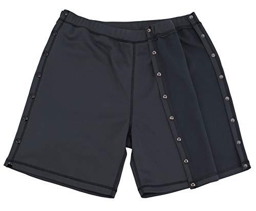Post Surgery Tearaway Shorts - Men's - Women's - Unisex Sizing Grey
