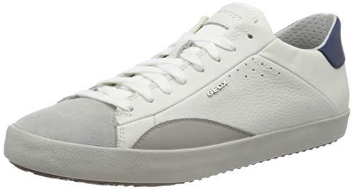 Geox U WARLEY B, Scarpe da Ginnastica Basse Uomo, Bianco (White/Lt Grey C1236), 44 EU
