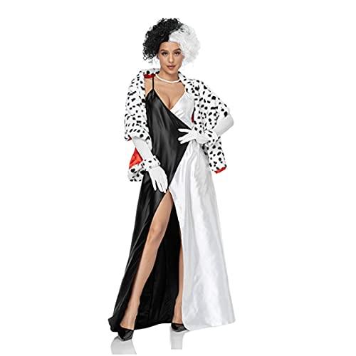 HIZQ Disfraz De Adulto Halloween Pster De Pelcula Europea Y Americana Cosplay Vestido De Noche Retro Discoteca Uniforme De Hip Hop Adecuado para Representaciones Teatrales,Negro,XL