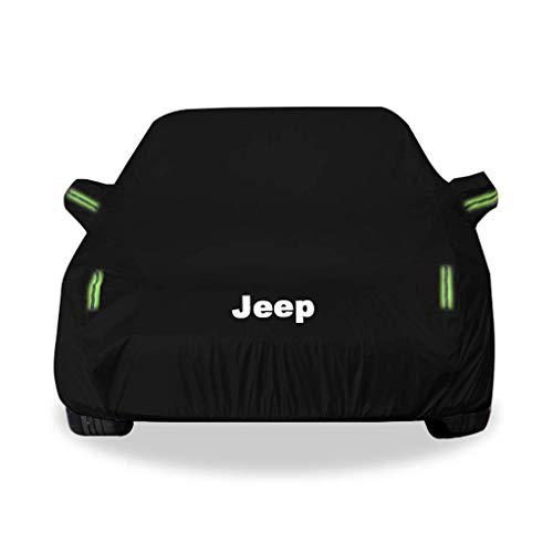 Cubierta del coche SUV SUV interior y exterior gruesa tela Oxford antiincrustantes Protección Solar lluvia caliente Modelos cubierta for el Jeep Compass coches (Color: Oxford tela - de una sola capa)