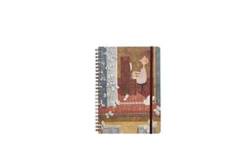 LE NASUTE Cuaderno de espiral A5 60 hojas con tapa de plástico y portafolios Cuaderno de anillas - Apto para recordatorios, escuela, oficina, con graciosos gráficos de Le Nasute.
