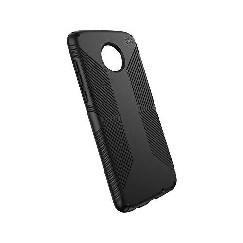 Speck Products Moto Z4 Case, Presidio Grip, Black/Black