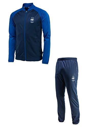 Frankreich-Nationalmannschaft Trainingsanzug FFF, offizielle Kollektion, Herrengröße S blau