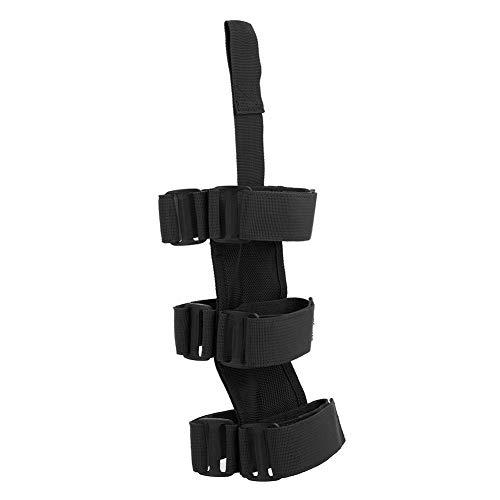 Fire Extinguisher Belt, Auto Car Fire Extinguisher Fixing Holder Belt Adjustable Strap Fits for Jeep Wrangler TJ YJ JK CJ.(黑色)