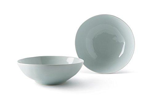 Fill Salbei Set 4Stück Teller aus Steinzeug, Keramik, Wasser, 17.5x 17.5x 6cm