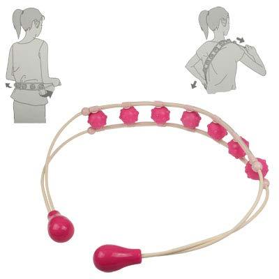 WJH Taillen- und Rückenmassage-Perlenring (Pink)