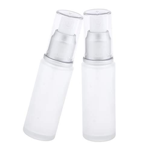 joyMerit Botella de Recarga Vacía de 2 Piezas Dispensador de Bomba de Loción Contenedor de Viaje 30 Ml - Cabeza de Spray