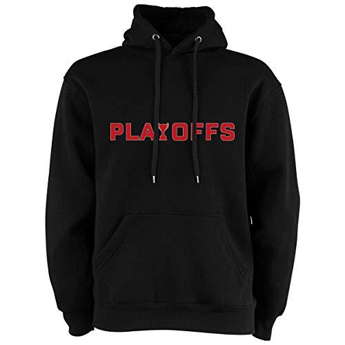 Scallywag® Eishockey Hoodie DEL Playoffs I Größen S - 3XL I Farbe schwarz, weiß, grau I offizielle Deutsche Eishockey Liga Kollektion (S, schwarz)