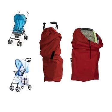 Kinderwagen Transporttasche, Reisetasche mit Trageriemen, Gate Check Bag Schutztasche (rot)