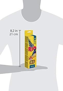 RIO Bâtonnets pour perruches et Oiseaux Exotiques avec Miel 80 g