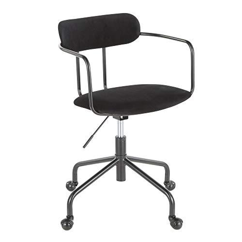 LumiSource Demi Office Chair with Black Finish OC-Demi BKVBK