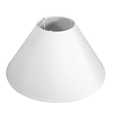 Rayher 2302802 Lampenschirm, rund, konisch, 22,5 cm ø unten, 7,5 cm ø oben, Höhe 14 cm, weiß, 100% Polyester, für Fassung E27, für Stehleuchte, Tischleuchte, auch zum Bemalen und Bekleben