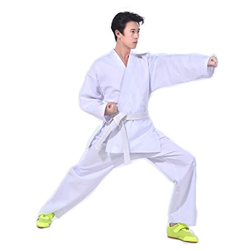 BBLAC 2KEY B2KEY® Ropa Deportiva Unisex Taekwondo Karate Traje Aikido Adultos Traje de Taekwondo Uniforme de Taekwondo para niños Traje de Entrenamiento de Artes Marciales Cuello en v