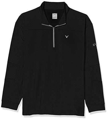 Callaway Herren 1/4 Zip Stretch Waffle Fleece Long Sleeve Golf Sweater Pullover, Caviar, 5X-Groß