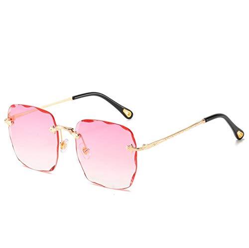 ZZZXX Gafas De Sol UnisexGradiente Cuadrado Sin Marco Polarizadas Uv400 Protección Para Conducir Pesca Al Aire Libre Marco De Acetato,Con Caja De Regalo Y Paño Para Vasos