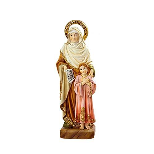 REGALOS LLUNA Figura Santa Ana con Virgen Maria Y PERGAMINO