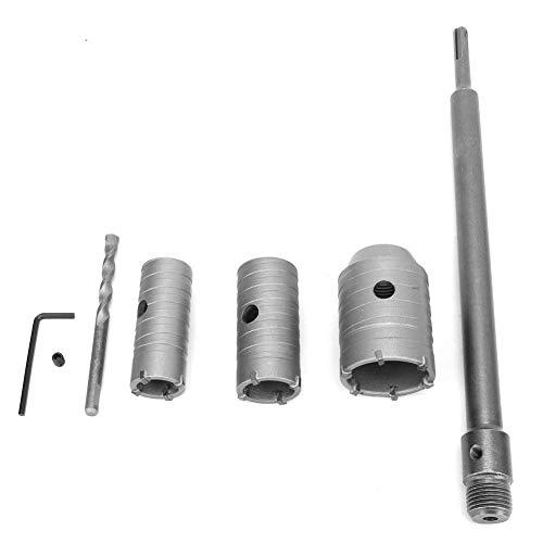 Kit de sierra de agujero, broca de sierra de agujero de pared de 30/40/50 mm Taladro de piedra de cemento para hormigón con broca y eje largo de 350 mm para muro de hormigón de ladrillo