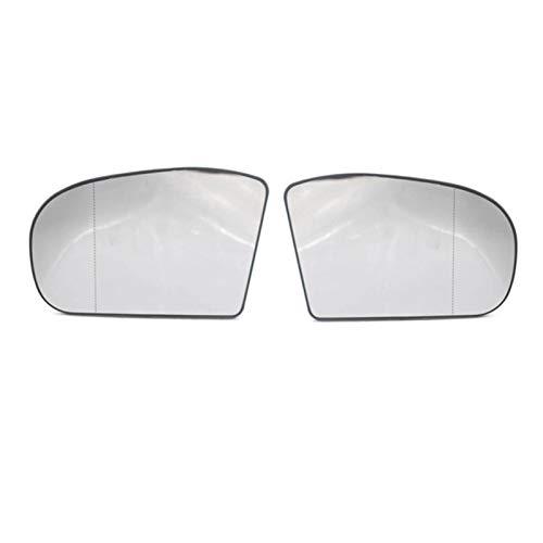 SHUAI 1 Pareja Derecha y Izquierda Lateral retrovisor Espejo lenos de Vidrio Juego de reemplazo para Mercedes Benz W203 W211 2038100121 2038101021 (Color : White)
