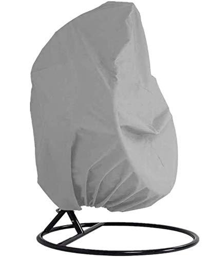 H.aetn Funda para Silla Colgante para Patio Tela Oxford Impermeable 210D con Forro de PVC Funda para Silla giratoria Funda para Silla para Patio con Bolsa de Almacenamiento 190x115CM