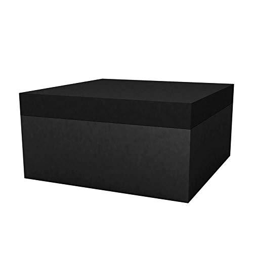 Vondom Quadrat Pouf pour l'extérieur 80x80 h.40 cm Noir